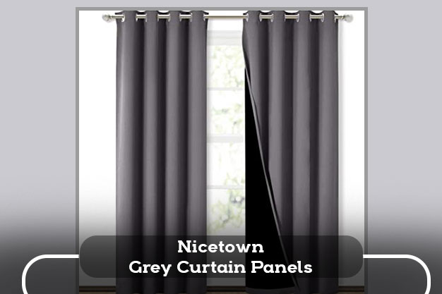 Nicetown Grey Curtain Panels